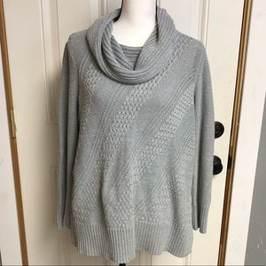 Gray sweater with sparkle